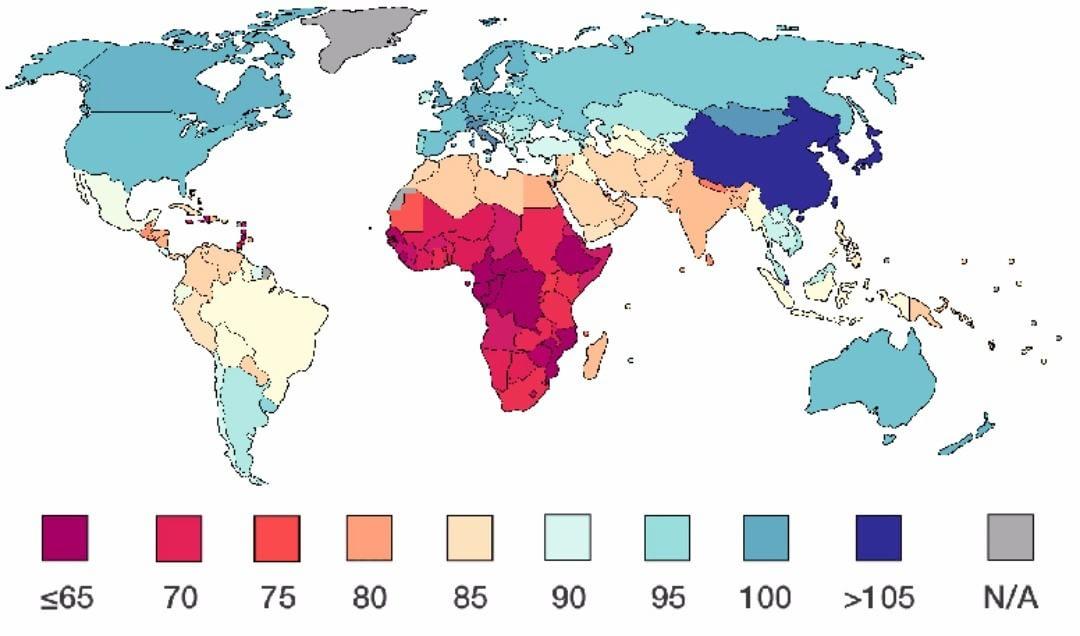Уровень IQ по странам