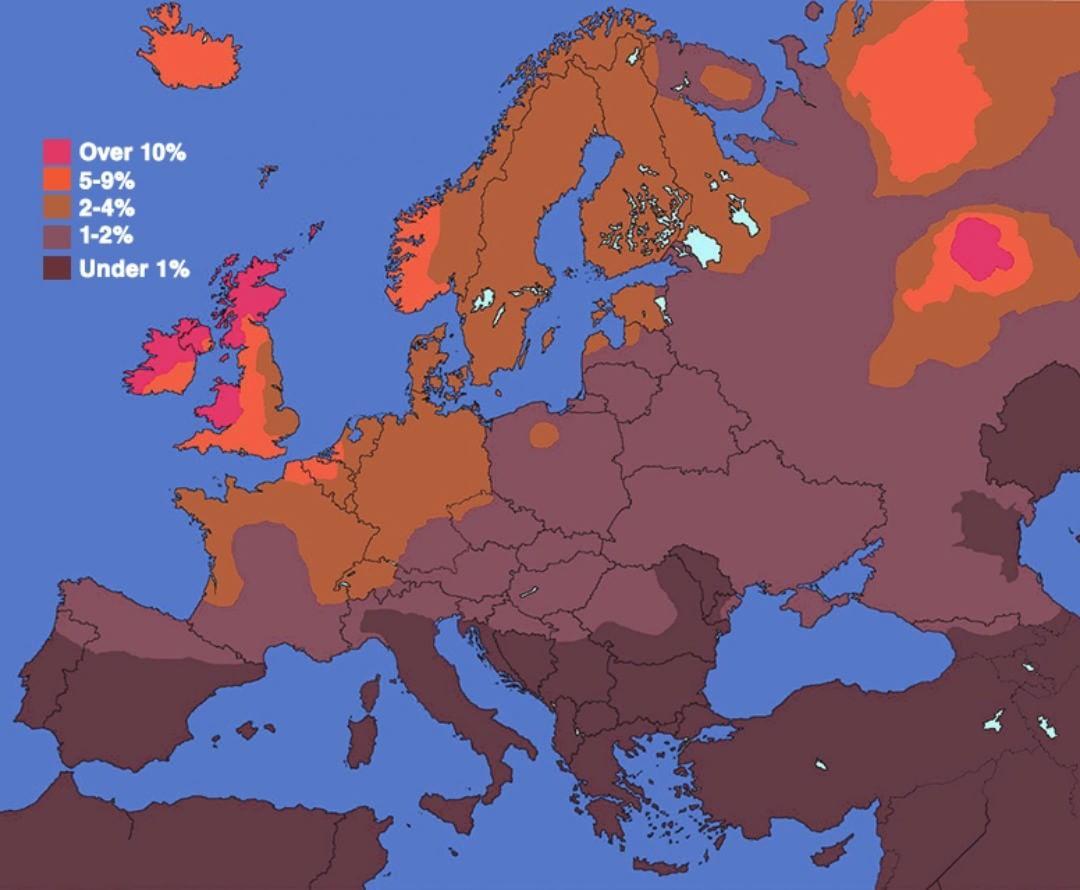 Рыжеволосые люди в Европе