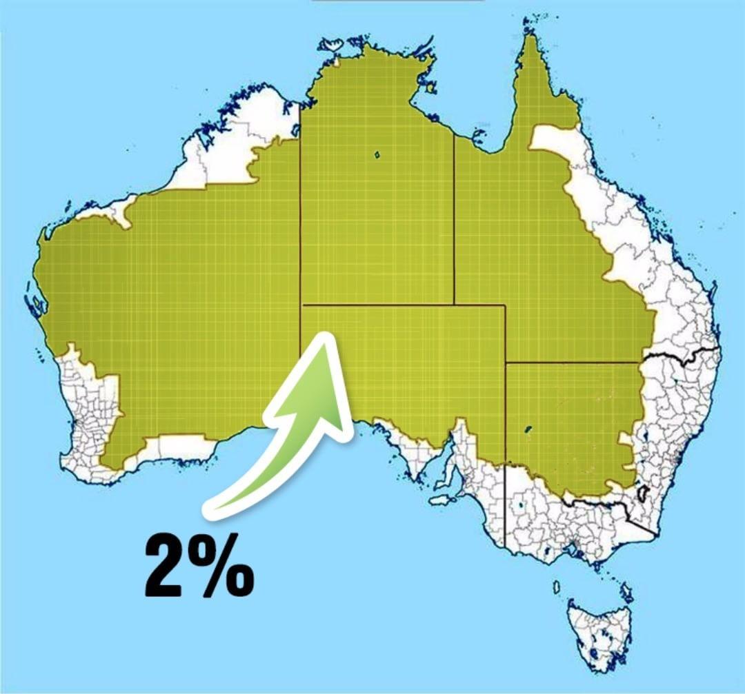 2% населения Австралии на карте